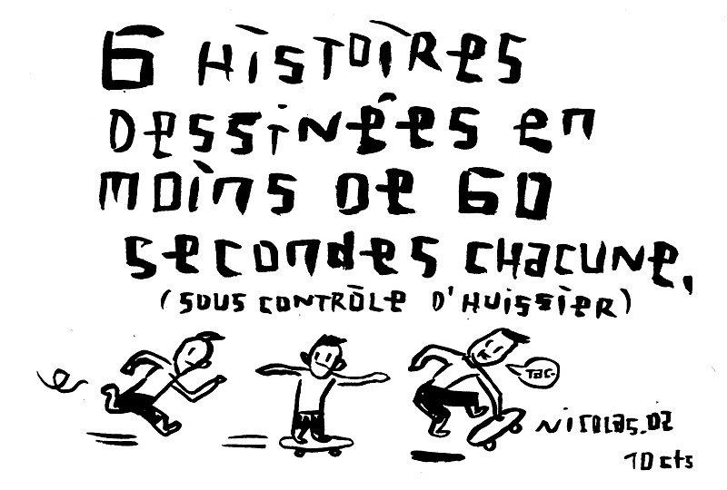 6 histoires dessinées en moins de 60 secondes chacune