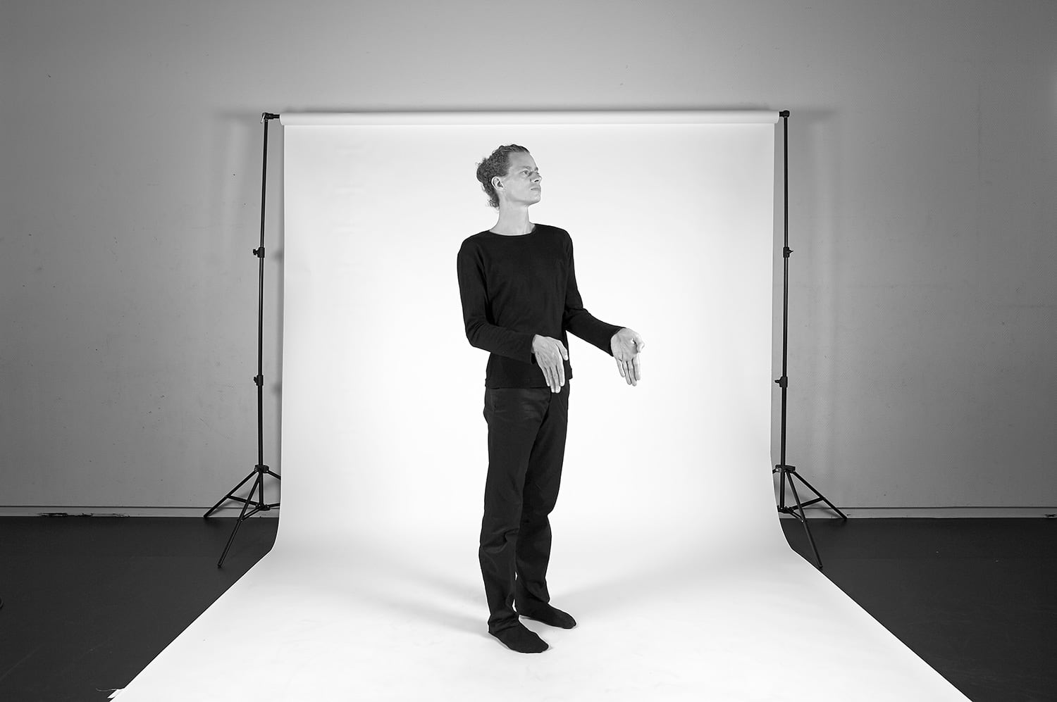 Nicolas Cantillon en répétition, Studio de danse du Grütli, photo: Nicolas Robel