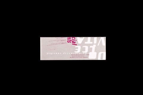 programme décembre 98 (239x84mm), plié