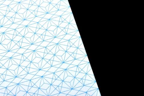 papier à lettre (210×297mm), verso, détail motif géométrique